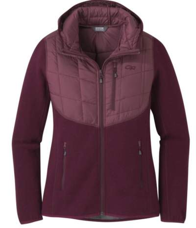Outdoor Research Women's Vashon Hybrid Full Zip.