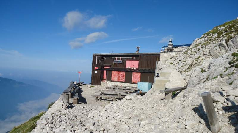 The Krn summit hut, some 200 meters below the summit.