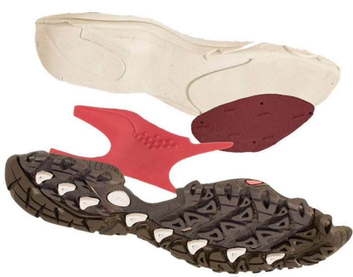 The Swiftcurrent midsole structure.