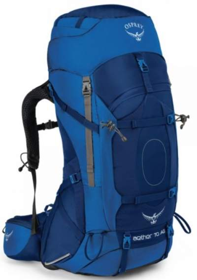 Osprey Aether pack front view.