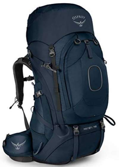 Osprey Xenith pack front view.