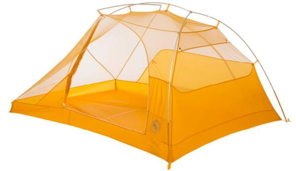 The tent without fly showing its freestanding structure.
