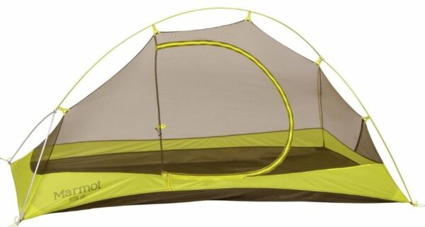 Marmot Eos 1P tent shown without the fly.
