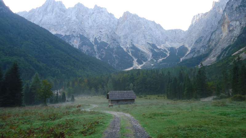 The Krnica valley in the early morning.
