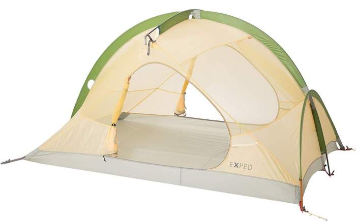 Exped Mira II HL Tent shown without fly