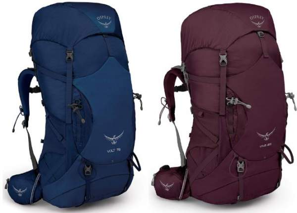 New 2019 Osprey Volt and Osprey Viva Backpacks.