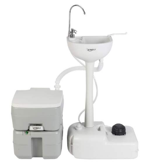 VINGLI Upgraded Portable Sink and Toilet Combo.