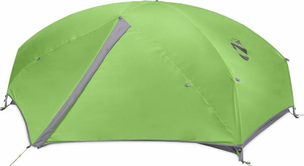 This is the tent under its full-coverage fly.
