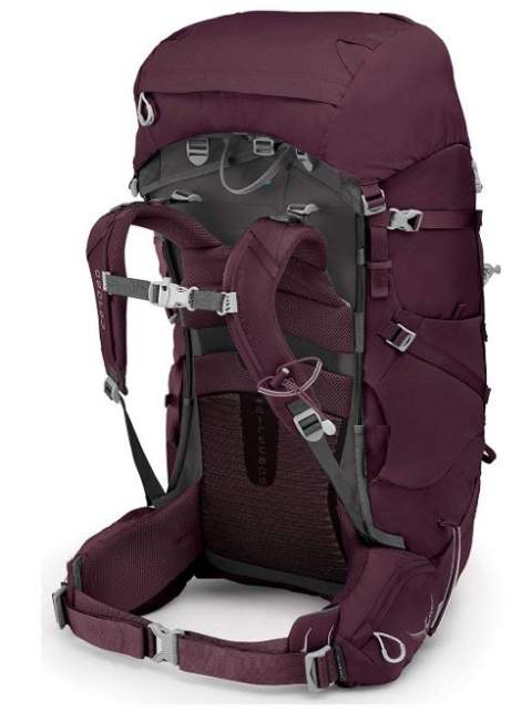 Osprey Viva 65 with a fully adjustable harness.