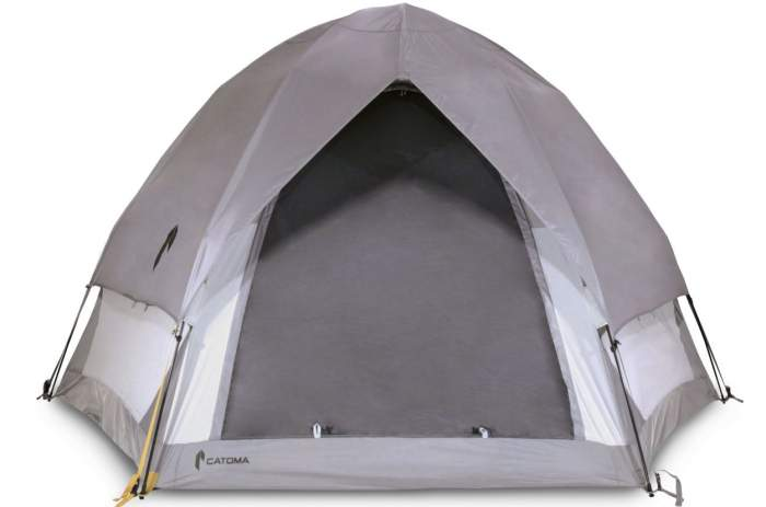 CATOMA Eagle 4 person tent front view.