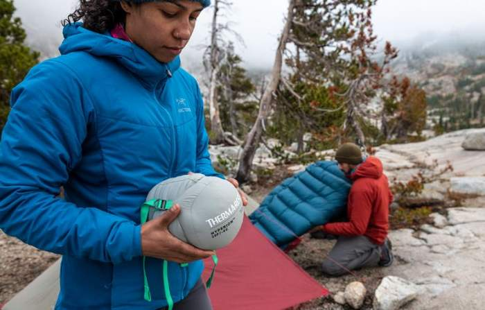 Ultra-packable sleeping bag for backpackers.