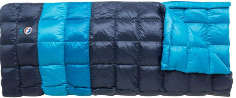 This is how it looks as a single sleeping bag.