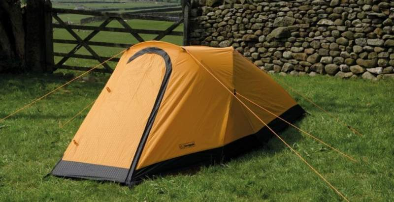 Snugpak Journey Duo Tent view with closed vestibule.
