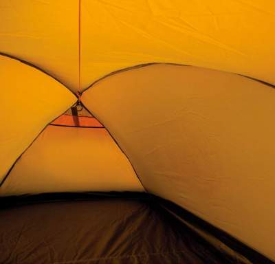 The small mesh area at the end of the tent.