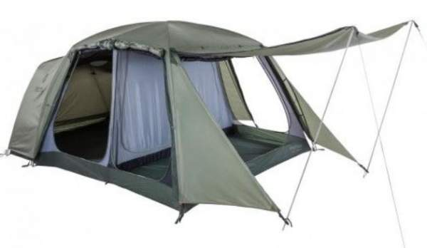 All entry points on the inner tent are open here, only the inner door is zipped up.