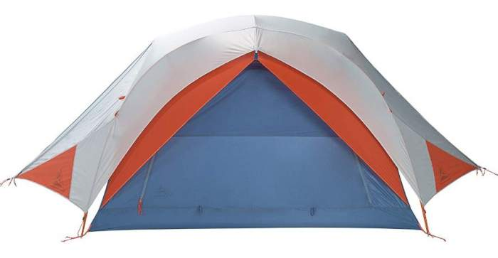 Front view of All Inn 3 tent with two vestibules on the sides.