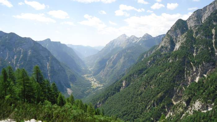 The view of the Soca valley.
