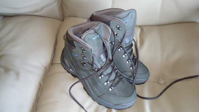 My pair of Lowa Renegade GTX Mid Hiking Boots, just unpacked.