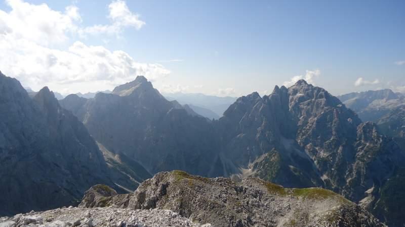 Climbing Razor Mountain Slovenian Alps Mountains For