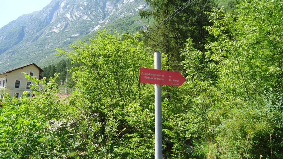 The sign at the beginning of the route.
