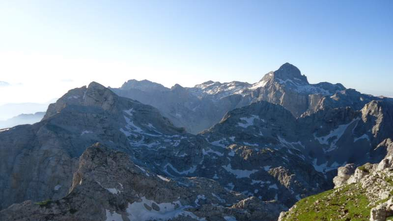 Triglav as seen from the summit of Razor.
