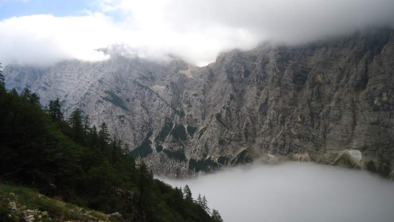 This is ( a sort of) view of the Prag route to Triglav, the best view I had that day.