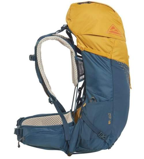 Side view, observe the harness separated from the pack.