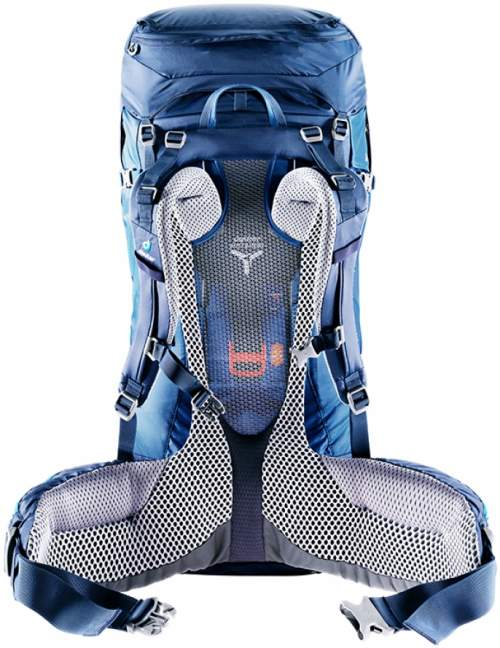 Central strap behind the tension mesh, for torso size adjustability in Deuter Futura Vario packs.