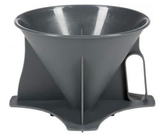 The filter holder.