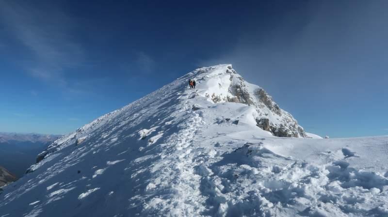 The final push toward the summit.