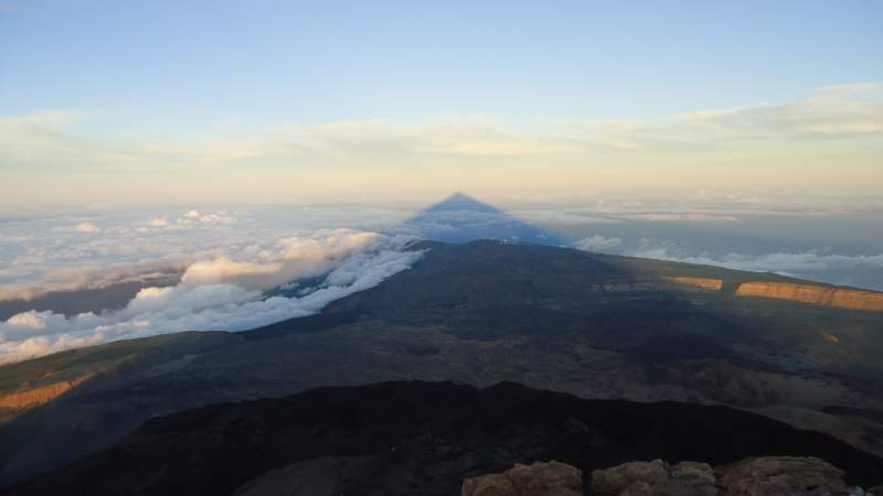Shadow of El Teide. To experience this, you have to climb the mountain.