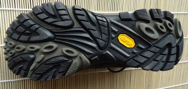 Vibram sole with deep lugs.