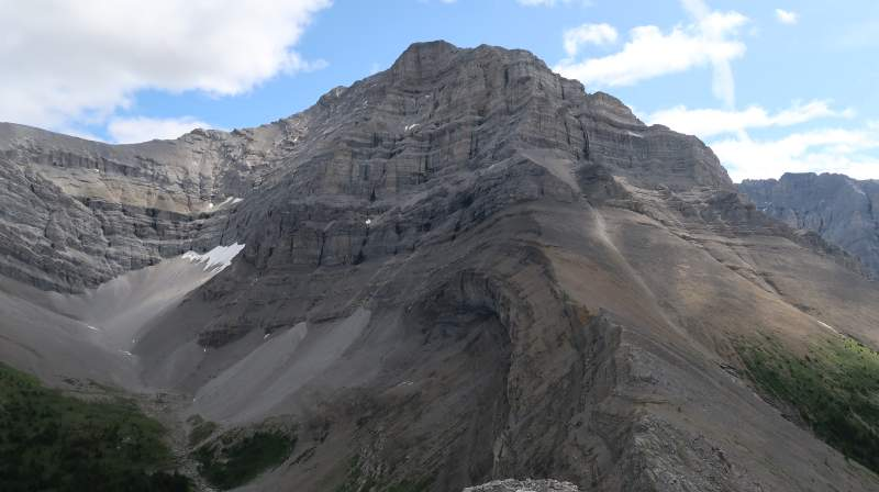 Mount Lougheed as seen from the summit of Little Lougheed.