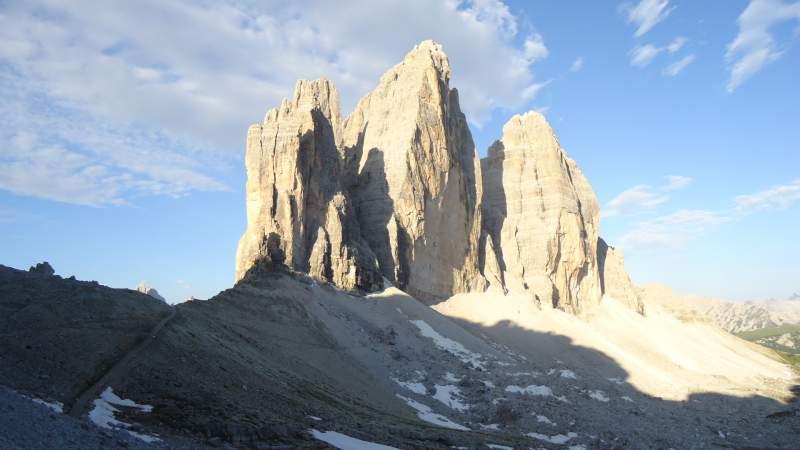 Tre Cime di Lavaredo (Drei Zinnen) - view from the north-east.
