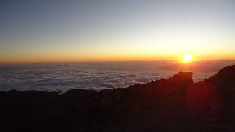 Sunset from the summit.