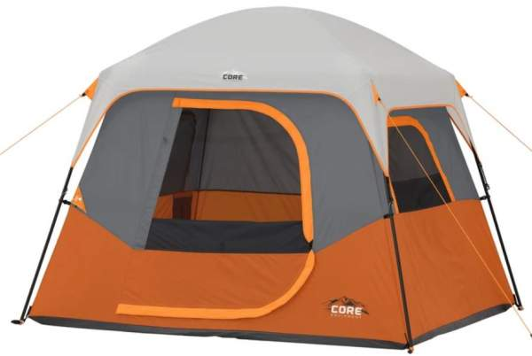 CORE 4 Person Straight Wall Cabin Tent.