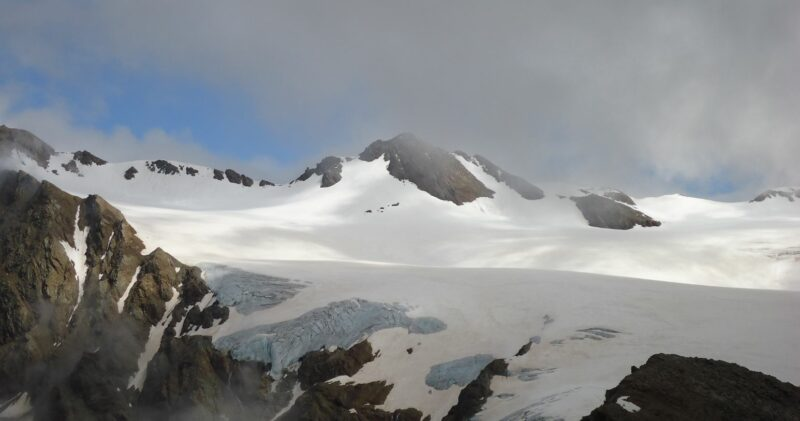 Dosegu glacier in the Italian Alps.
