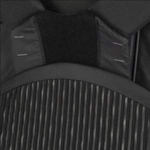 Sliding harness with markers and Velcro.