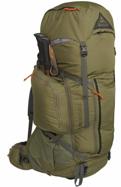 Kelty Coyote 105 Pack side pockets and straps.
