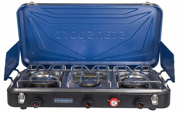Stansport Outfitter Series Propane Camp Stove with 3 Burners.