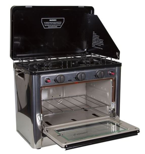 Stansport Propane Outdoor Camp Oven and 2 Burner Range.