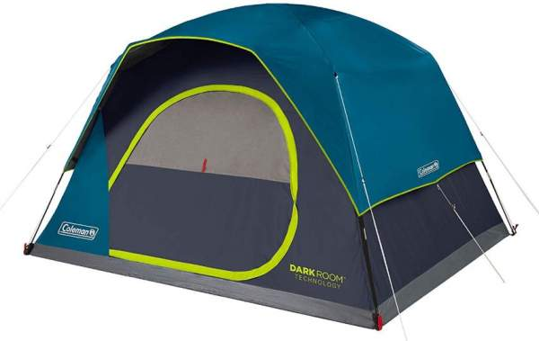 Coleman 4-Person Dark Room Skydome Camping Tent.