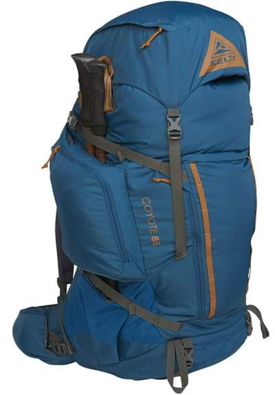 Kelty Coyote 85 Pack with its pass-through pockets.