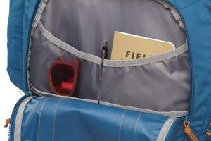 Front pocket with organization.