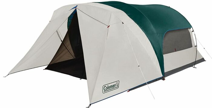 Coleman 4 Person Cabin Camping Tent with Screen Room.