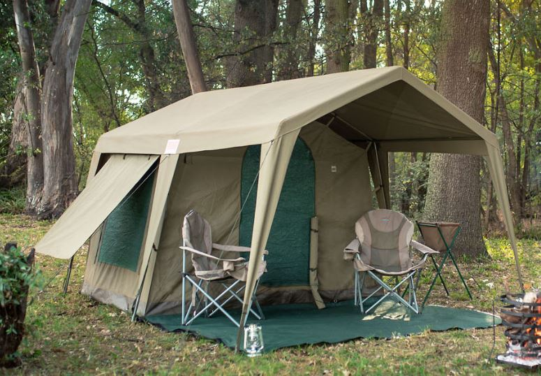 Delta Zulu Combo Canvas 4 Person Chalet Tent with Gazebo.