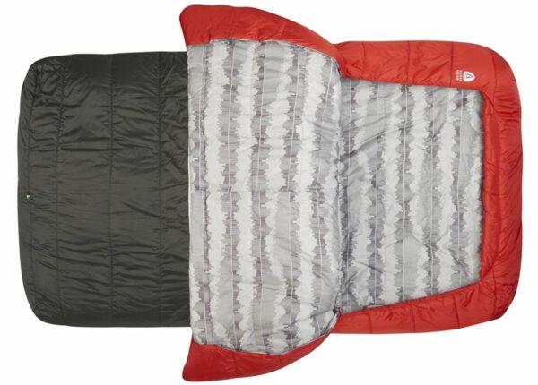 Zipperless Sierra Designs Frontcountry Bed 20 Duo Queen Size.
