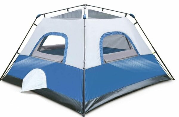 This is how this OT QOMOTOP 4 Person Tent looks without the fly.