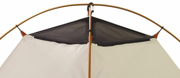 Here you see the two zippers on the inner tent's canopy.