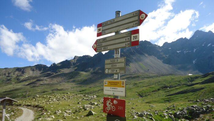 At Passo di Verva (2301 m).